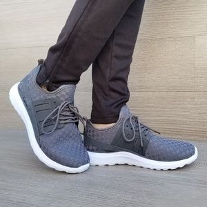 Light Weight Stylish Athletic Gray Sneakers-D